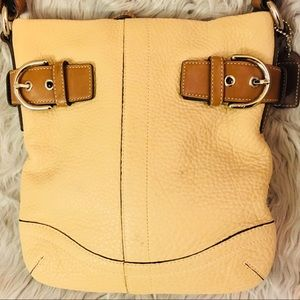 Coach Soho Slim Beige Brown Pebble Leather Bag